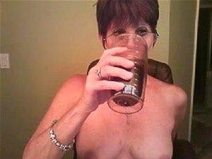 Uma Bimba madura a posar na webcam, eu estava a