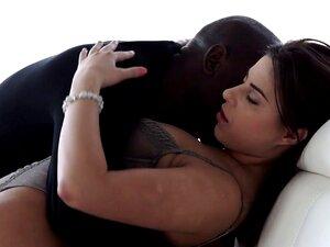 Gata elegante socado por seu namorado negro