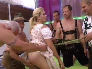 pierced busty stepmom in wild gangbang, extreme