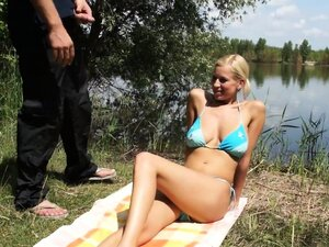 Perfect and busty outdoor deepfucking