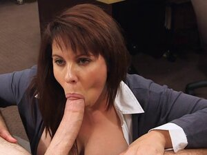 Big tits milf pawns her pussy for money