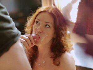 Sexy redhead facial cumpilation