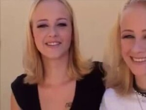 Petite Blonde Twins Fuck Guy With Strapon
