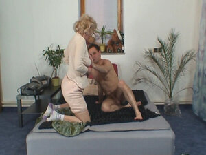 GRANNYBET - Naughty grandma gives up her pussy