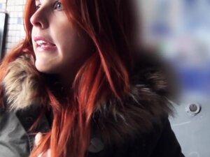 Spanish redhead amateur in public flashing