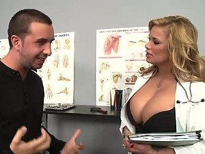 Blonde Doctor Shyla Stylez Uses Her Big Tits To