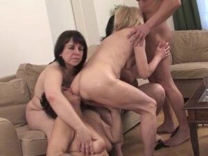 Three dirty old wives love a big cock part6