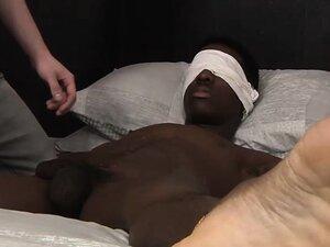 Black stud Kai Riley gets his big cock jerked off