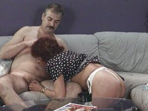 Mature couple playing with eachother