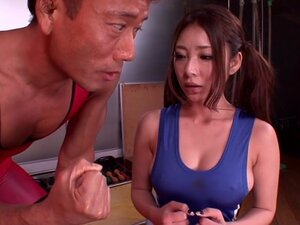 Minori Hatsune in Busty Wrestling Captain part 1