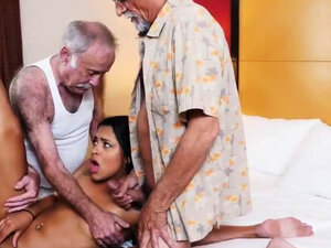 Strip for old man Staycation with a Latin Hottie