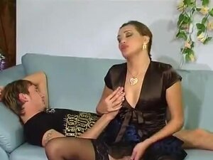 Aunt Helena And Young Lover Gets Sex Lessons In