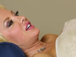 Amazing babes on special massage couch