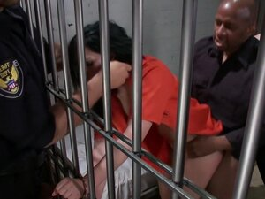French Hottie gets pounded by 5 prison guards, A