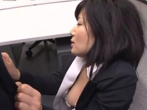 Yume Kyono hot Asian milf in an office suit gets
