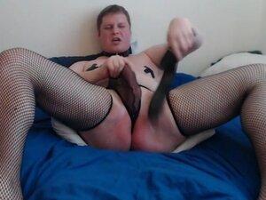 Submissive sissy slave self spanking for master