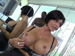 A black stud bangs the hell out of white MILF Shay