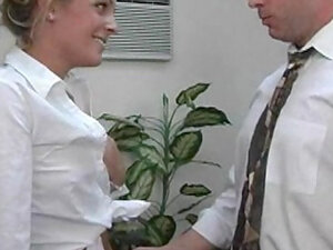 Blonde Alexis Stevens fuck with boss