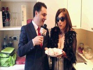 Mistress Divina Klelia destroys and cooks a couple