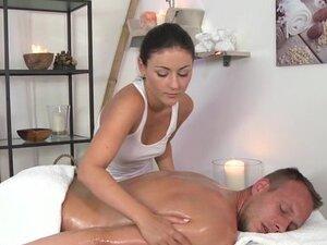 Massage Rooms Beautiful brunette screams
