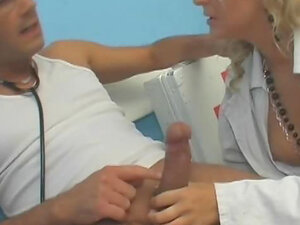 Doctor and nurse bang on the floor