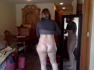 Milf is trying clothes on webcam, Milf is trying