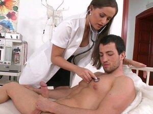 Slutty doctor fucks her handsome patient