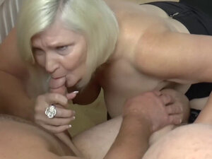 Busty GILF Lacey Starr threesome toy teasing and