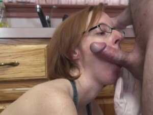 Older floozy Layla Redd is on her knees to engulf