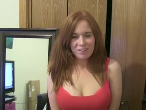 Redhead temptress is ready for an amateur blowjob,