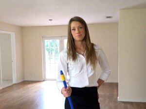Hot property manager seduces her boss in an empty