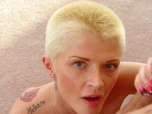 1000Facials Shaved blond tattooed emo Joslyn