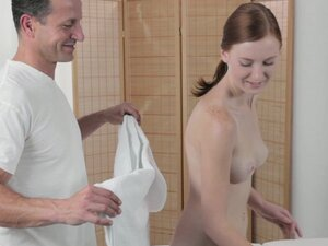 Massage Rooms Deep and intense fuck makes freckled