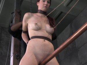 Pierced clit bdsm bondage Ashley Lane grinds on