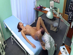 Amateur euro fucked by doctor before cumshot