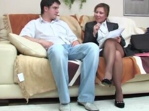 Headmistress seduces guy