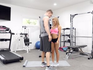 Honey Blossom enjoys the best fuck at the gym with