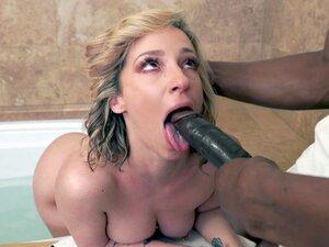 Blonde mom Jada Stevens is sucking the black