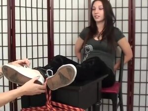Celeste tickled feet