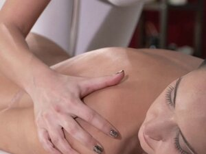 Redhead masseuse fingers in sixty nine