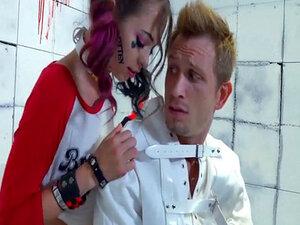 Psycho Riley Reid bangs her doctor who is in a