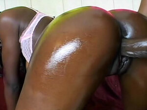 Oiled up black ass is hot as hell