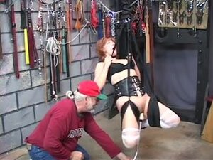 Hawt older redhead receives her slit toyed then