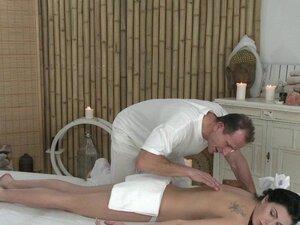 Massage Rooms Expert hands seduce a young girl