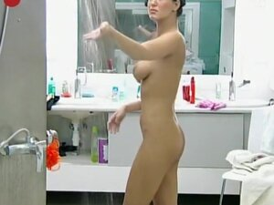 Sexy girl showers in big brother show, Every once