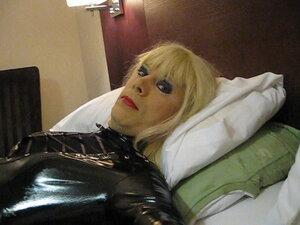 PatsyPVC transvestite fetish slut in shiny PVC