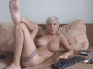 Sexy blonde uk girl private webcam show