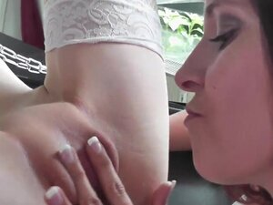 Blonde in stockings gets screwed in BDSM