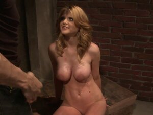Busty slave babe toyed with and disciplined