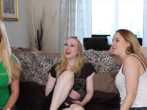 Amateur beauties cocksucking in CFNM foursome